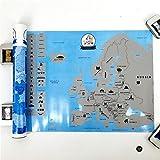 BLOUR Neuankömmling Creative Scratch Europe Karte DIY Kunstdruckpapier Reiseurlaub Personal Mark...