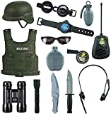 Zenghh 14 Stück Kampfkraft Spielzeug for Kinder, Detektivausrüstung Tarnung Militärkleidung for...