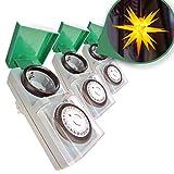 Zeitschaltuhr Aussenbereich 3er Set - Zauberhafter Lichterglanz automatisch geregelt –...