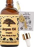 SEHR GUT IM TEST* – Bio Arganöl aus Marokko - Fair Trade Öl für Haare, Gesicht, Nägel und...