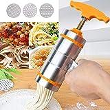 CHERUISI Küchenlebensmittel 3 Moulds Haushalt manuell Kleiner Edelstahl Pressing Art Haltegriff...