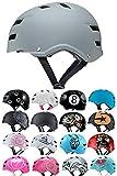 Skullcap® BMX Helm - Grauer Skaterhelm - Fahrradhelm - Herren Damen Jungs & Kinderhelm, Grau just...