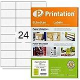 Universal Etiketten 2400 Stk. 70 x 36 mm Internetmarke weiß - 70x36 Aufkleber auf 100 DIN A4 Bogen...