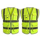 WUIO Hohe Sichtbarkeit Reflektierende Sicherheitsweste Arbeitskleidung Executive Weste Jacke...