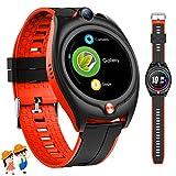 4G Kinder Smartwatch mit GPS, Kinder Sport Uhren Telefon mit wasserdichte WiFi Bluetooth SOS...