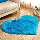 WZYEU Flauschige Teppichmatte,Lange Wollteppichmatte,Runde Teppichmatte,Geeignet für Schlafzimmer,...