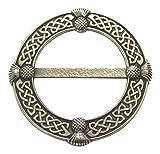 Große Distel Zinn Schal Band Plaid Ring–hergestellt in Schottland