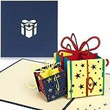 PaperCrush Pop-Up Geburtstagskarte für Geldgeschenk [NEU!] - 3D Popup Karte zum Geburtstag,...