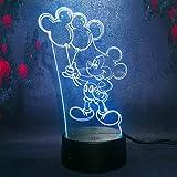 Nette Farbe der Illusion 7 des Nachtlichtes des Ballons 3D führte Lichter...