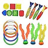 Teaisiy Pool Spielzeug für Kinder 3-12 Jahre, Tauchringe für Kinder 4-9 Jahre Mädchen Spiele...