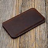 Braune iPhone 11 PRO, XS, X Hlle Tasche Cover Leder Etui Case Ledertasche Handyschale Gehuse...