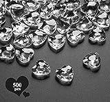 Sweelov 500Stk Funkelnd Herzen Diamantkristalle Streudeko Deko Steine Kristalle Konfetti Diamanten...