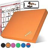 POWRX Balance Pad 40x34x5 cm inkl. Workout Ideal zum Training von Gleichgewicht, Stabilitt und...
