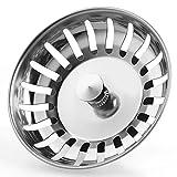 Anpro Edelstahl Küchenspüle Sieb Abflusssieb Küchenspüle Stopper Siebkörbchen mit Zapfen (20...