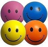 Stressballs 4 x Stressball Mischfarbe  Antistressball Gelb, Rosa, Blau und Orange