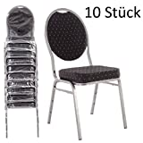 MACOShopde by MACO Möbel Bankettstühle 10er Set schwarz – Stapelstühle Konferenzstühle...