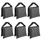 Neewer® 6er-Pack Schwarze Fotografie-Sandsäcke, Gegengewicht für Lichtstative/Dreibeinstative