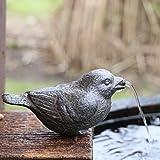 Gartenzaubereien Wasserspeier Spatz inkl. Pumpe Gusseisen