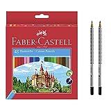 Faber-Castell 120148 - Eco Buntstifte, 48er Kartonetui (48er + 2 HB Bleistifte inkl. Radierer)