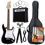 Rocktile ST-Pack Komplettset E-Gitarre Schwarz (Verstärker, Stimmgerät, Tremolo, Tasche, Kabel,...