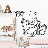 yaonuli Bär Buch Wandtattoo Mode Tapete Babyzimmer Kinder Familie Dekoration Accessoires 30x42cm