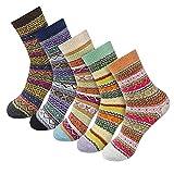 Socken Damen, Vovotrade 5 Paar Damen Warme Winter Socken Vintage Stil Bunte Gemusterte Atmungsaktiv...