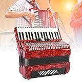 Knopfakkordeon, 34 Tasten 48 Bass Hand Klavier Akkordeon Musikinstrument für Erwachsene Anfänger...