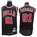 Dennis Rodman # 91 Herren-Basketball Jersey, Bulls Retro All-Star atmungsaktiv Swingman Trikots...