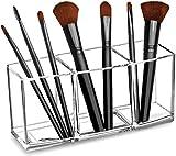 Klar Make-up Pinsel Veranstalter, Premium-Acryl Make-up Pinsel Halter Veranstalter 3 Fächer,...
