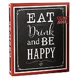 Goldbuch Rezeptebuch, Eat, Drink & Be Happy, 21 x 22,5 cm, 25 bedruckte Blätter, Ordner mit...