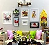 BAIJJ 6-teiliges Wandbild, Wandbild, Kombination aus Hintergrundfarbe, Rahmen aus Massivholz, Regal...