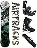 Airtracks Snowboard Set - Board STEEZY Wide 155 - Softbindung Master - Softboots Savage Black 44 -...