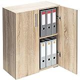 Deuba Standschrank Aktenschrank Mehrzweckschrank Schrank Holz »Vela« 2 Fächer mit 2 Türen...