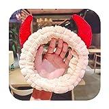 Damen Haarband in Kuhform, Korallen-Fleece, weich, für die Dusche, Beige