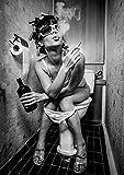 PICSonPAPER Poster Toiletparty, ungerahmt Din A4, Dekoration, Kunstdruck, Wandbild, Fineartprint...