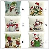 Dragon 868 Weihnachten Dekoration Kissenbezug Yeti Drucken Pillowcase Kissenbezug aus Leinen Home...