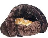 Kuschelhöhle für Katze Warmer Plüsch Katzenhöhle Softplüsch-Bezug Hundehöhle Warm Hundehaus...