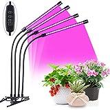 JZH Pflanzenlampe LED, LED Grow Lampe Mit Timer 40W PflanzenleuchteLED Grow Light Wachsen Dimmbar 3...