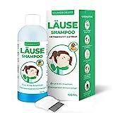 Silberkraft Läuseshampoo 100 ml mit Nissenkamm, zur Behandlung bei Kopfläusen und Nissen,...