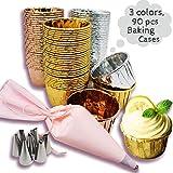 Weekend&Lifecan Cupcake Formen, Muffinförmchen Aluminium-Folien, Backförmchen aus Aluminiumfolie,...