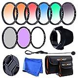 K&F Concept® Objektiv Filterset 52mm 6er Verlaufsfilter 52mm Slim UV CPL FLD Filter für Canon...