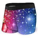 Christmas Ball Golden Star Boxer Briefs Weiche, atmungsaktive No Ride Up Unterwäsche für Männer,...