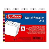 Herlitz 1500669 Karteiregister A6 Kunststoff PP 25-teilig A-Z weiß
