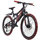 KS Cycling Mountainbike Fully 24'' Bliss schwarz-rot RH 38 cm