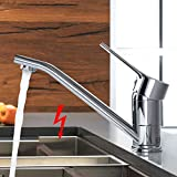 WOOHSE Niederdruck Küchenarmatur Einhebelmischer 360° Schwenkbarer Auslauf Niederdruck Armatur...
