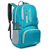 Crenze 35L Ultra leicht Faltbarer Wanderrucksack,Multifunktions Rucksack,Packable Wasserdichter...