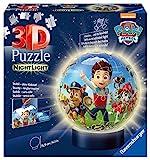 Ravensburger 3D Puzzle 11842 - Nachtlicht Puzzle-Ball Paw Patrol - 72 Teile - ab 6 Jahren, LED...