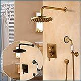 Duschsystem Brausegarnitur Duschsystem Badewanne Armatur Dusche Antique Black Wall Conceal...