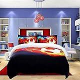 BOXSBAI Kinder-Bettbezug, 3D-Druck, Bettbezug, Fußball-Bettwäsche, superweich, Jugendliche,...