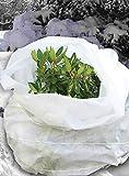 KADAX Winterschutz für Pflanzen, Garten, Balkon, Winterschutzvlies, 0,8 x 10 m, Gartenvlies für...
